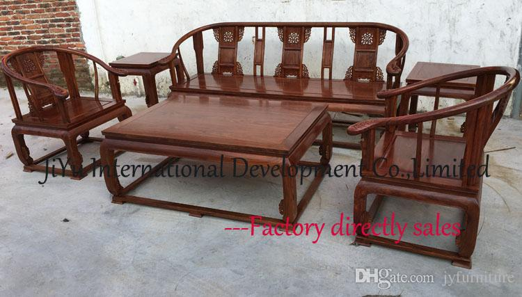 Beautiful Living Room Wood Sofa Sets Single Seat Sofa+couch+tables 100% African  Rosewood Chinese Ancient Tenon Structure Natural Lacquer Craft Sofa Sets  Wood Sofa ... Part 14