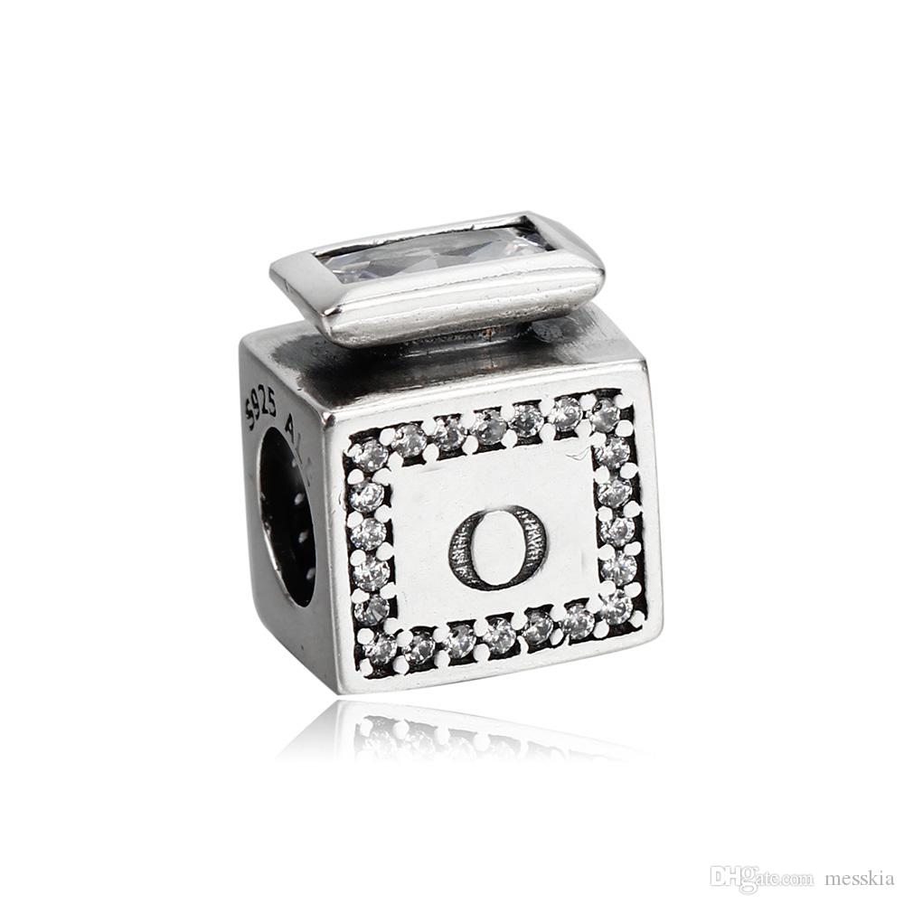 Real 925 Sterling Silver Signature Scent Charm, Clear CZFit ...