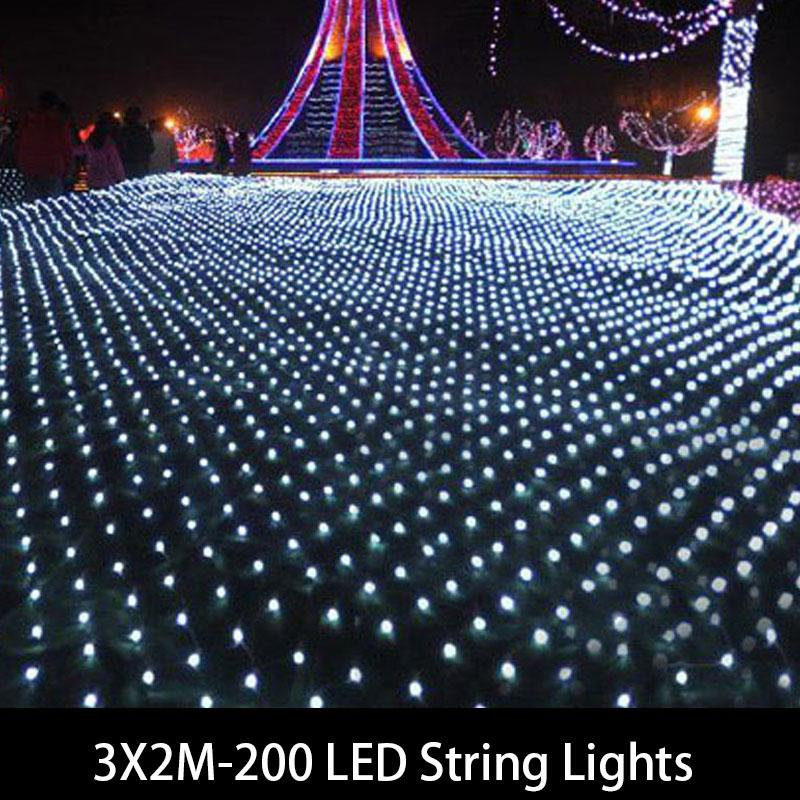 Wholesale Waterproof 3*2 M LED Curtain Lights With 200 Leds ,led Net Lights  ,wedding And Holiday Wedding Outdoor Led String Curtain Tieback Curtains  For ...