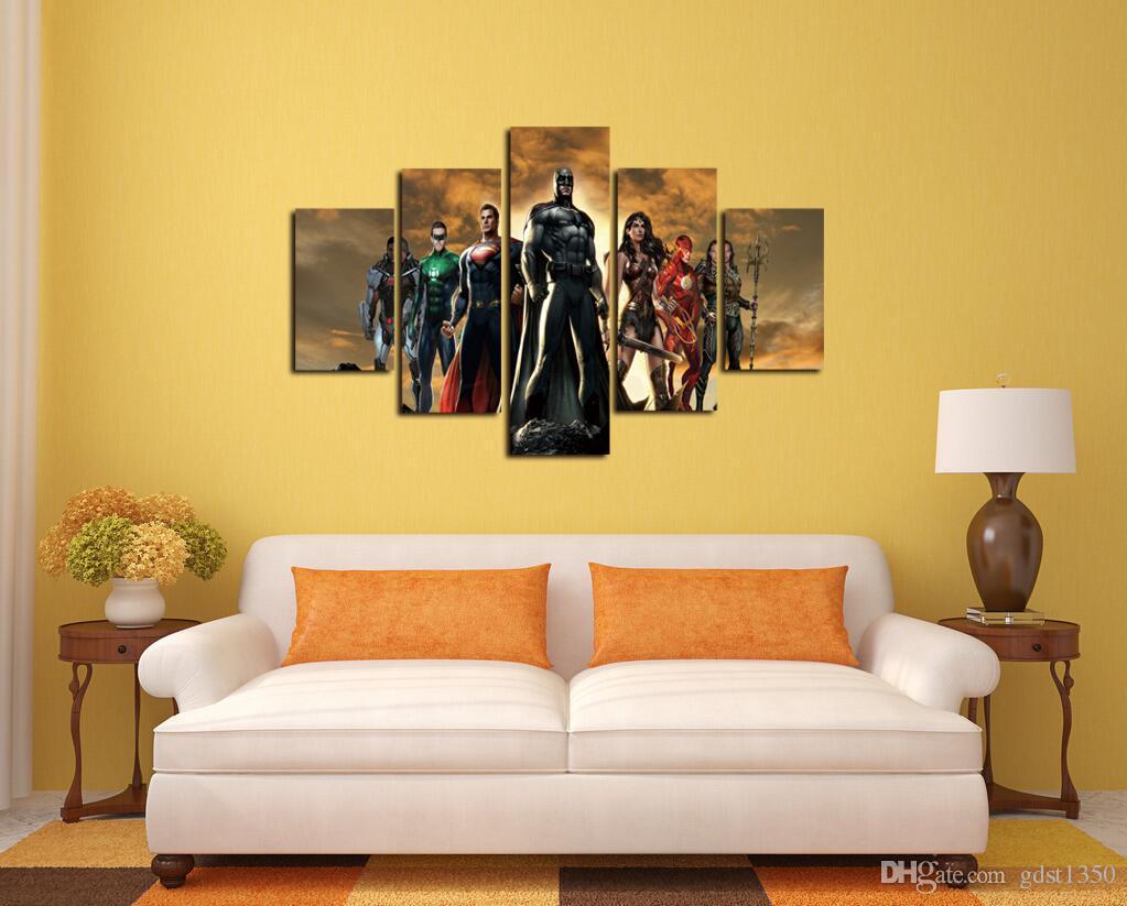 2018 no frame justice league superhero poster living room for Room decor justice