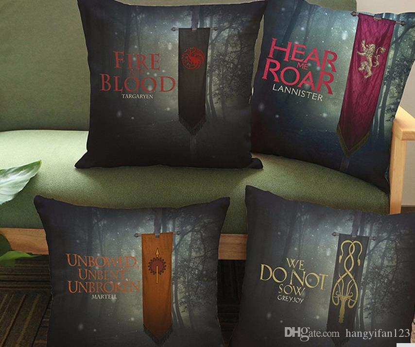 cushion cover pillow case colorful game of thrones cushions for sofa seat luxury home decor 45. Black Bedroom Furniture Sets. Home Design Ideas