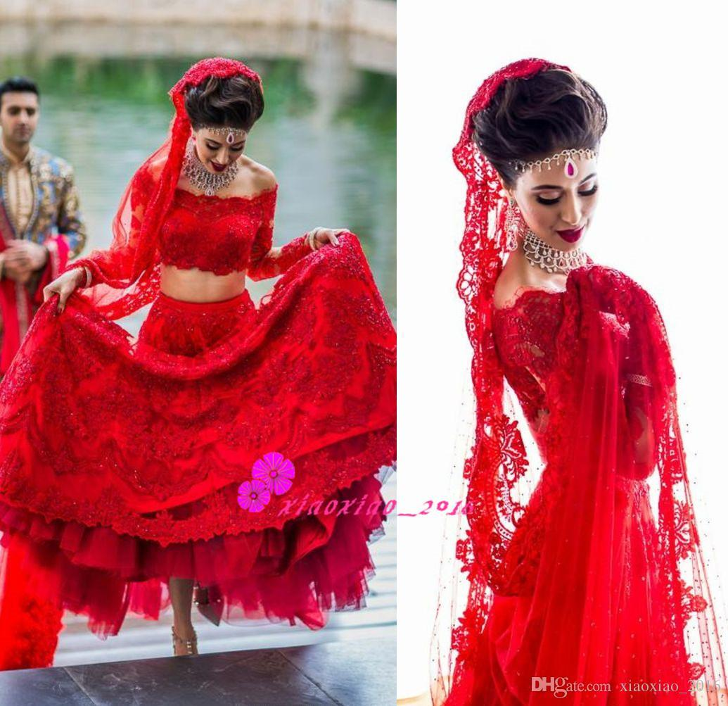 Red Lace Lengha Indian Bride In Mexico Destination 2016