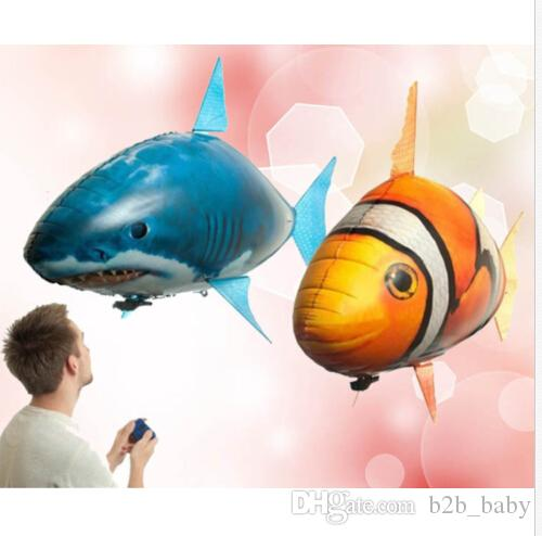 Air swimmers fish remote control toys air swimmer for Remote control air swimming fish