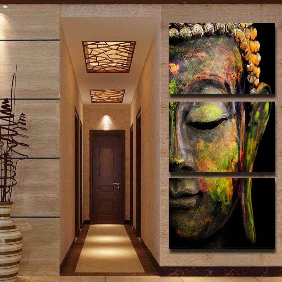 Buddha Head Decor 2017 Pure Handicrafts Modern Art Oil Painting Buddha Headhome