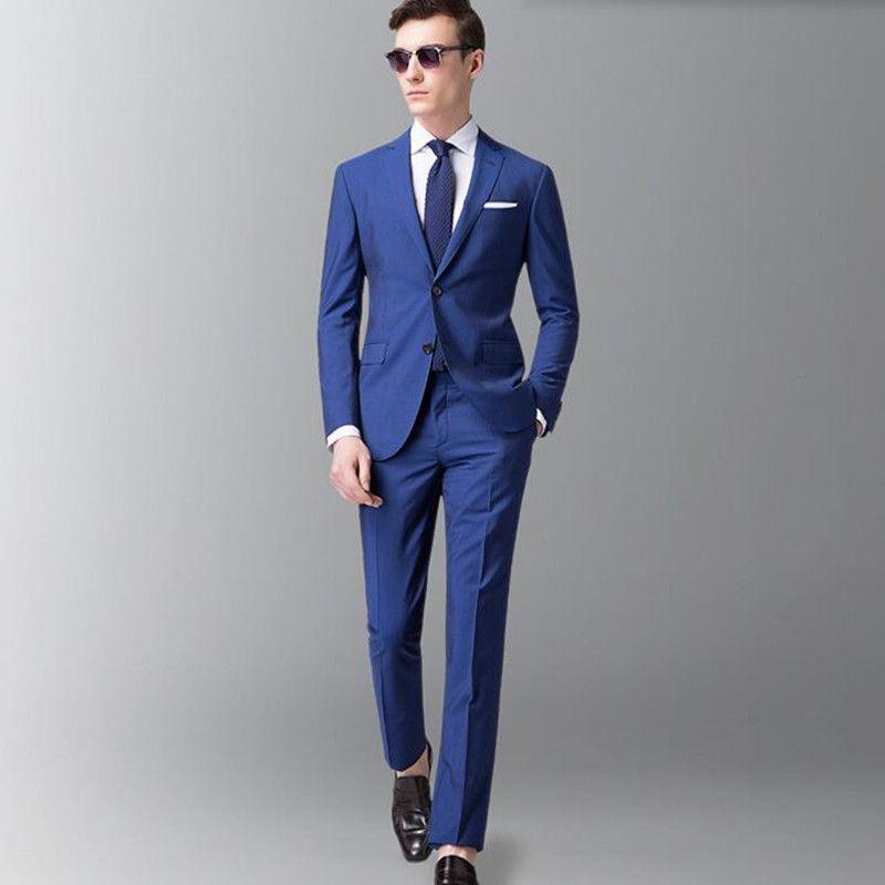 2017 Men Suits Royal Blue Men Wedding Suits Tuxedos Latest Coat ...
