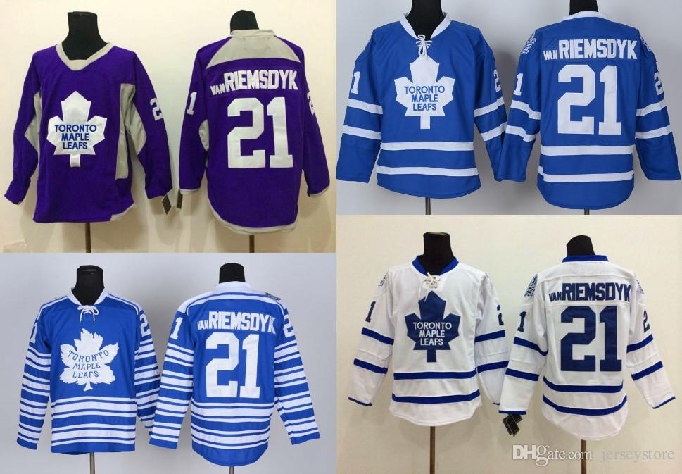blue jersey nhl 21 toronto maple toronto maple leafs 21 james van riemsdyk white kids jersey 20