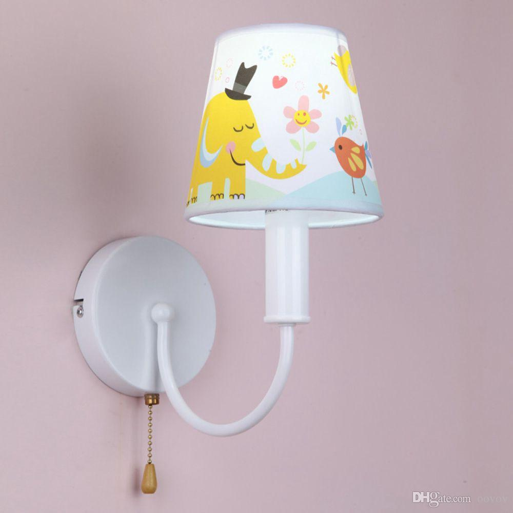 Wall Lamps For Children S Room : 2017 Cute Elephant Child Room Wall Lamp Simple Baby Room Wall Light Kids Bedroom Cartoon Wall ...