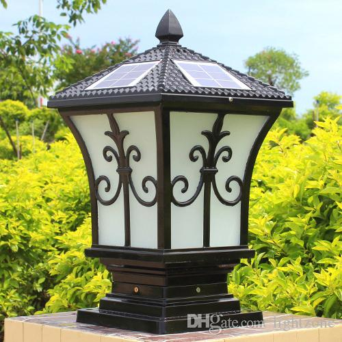 Solar Post Lights Outdoor Post Lighting Landscaping Solar Led Garden Lamp  Post Lamps Warm White Cold White Color Light Sensor Functions Outside Post  Lights ...