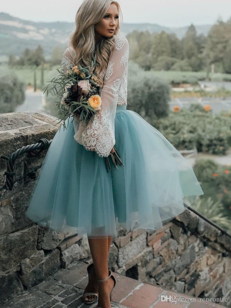 2017 Vintage Lace Long Sleeves Homecoming Dresses Short Teal Tulle ...