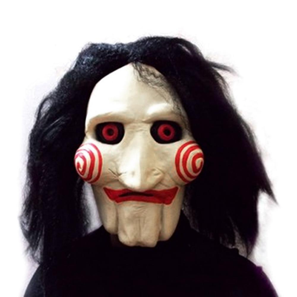 Wholesale-Saw Movie Jigsaw Puppet Mask Halloween Full Mask Head ...