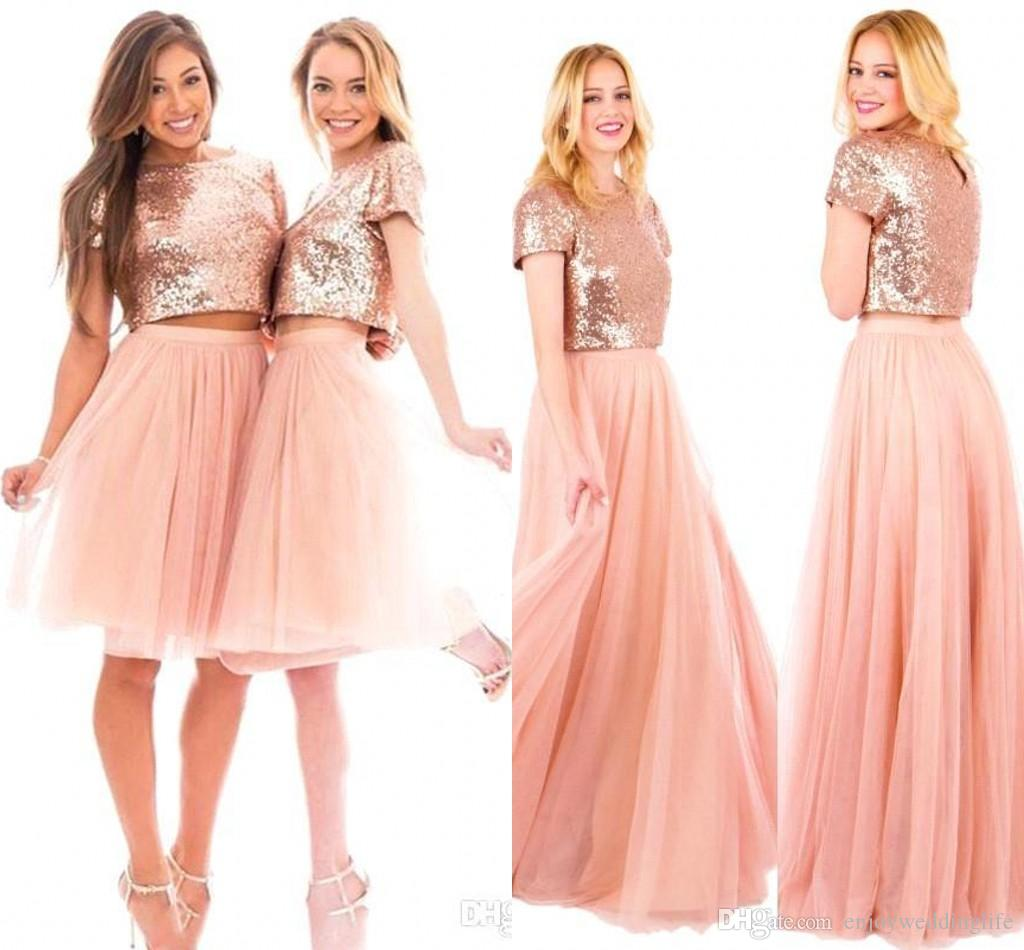 Sparkly sequined bridesmaid dresses 2018 new short sleeves knee sparkly sequined bridesmaid dresses 2018 new short sleeves knee length tulle maid of honor gowns long wedding party wear ba6573 bridesmaid dresses 2017 ombrellifo Choice Image
