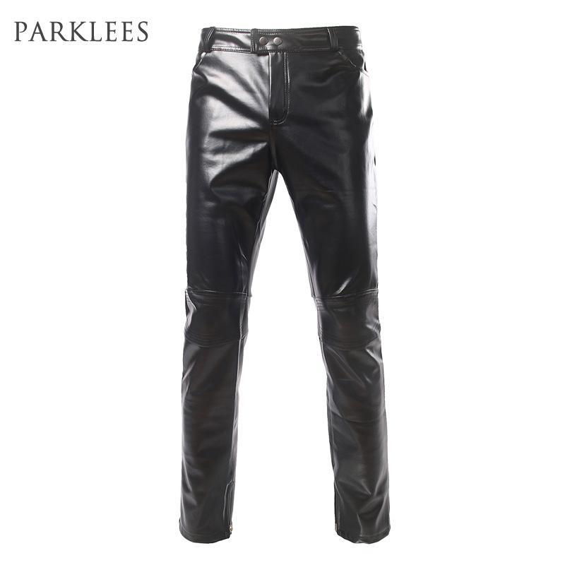 2017 Wholesale Shiny Black Metallic Pants Men 2017 Brand Side ...