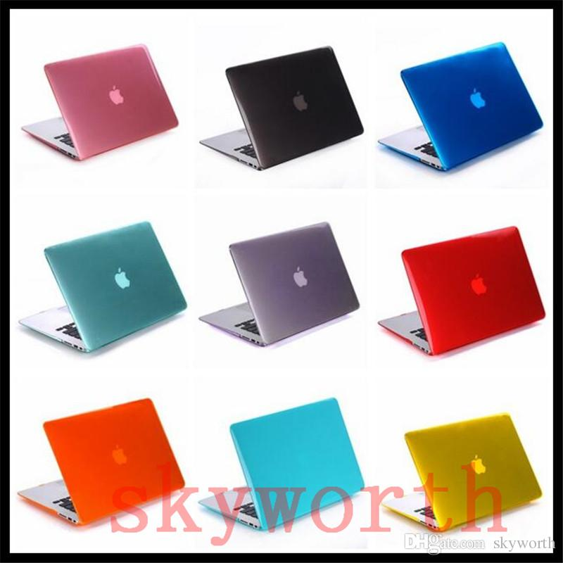 Crystal Clear Front + Back Protective Case Cover For Macbook 11.6 12 13.3 15.4 Air Pro Retina