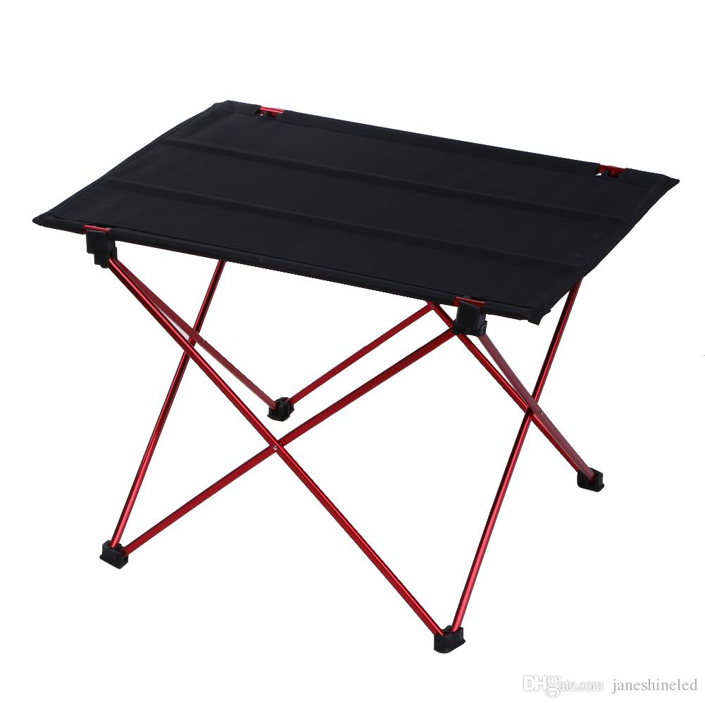 ultralight aluminium alloy camping hiking folding table travel outdoor portable picnic foldable table waterproof mesa camping hiking folding table