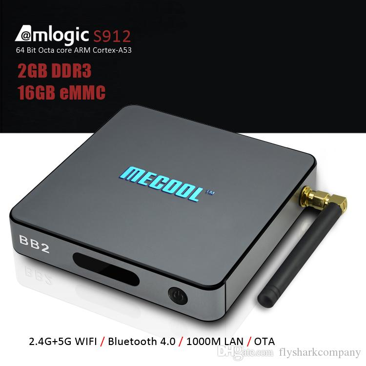 16GB 2GB Android TV Box Mecool BB2 2.4G / 5G WiFi Bluetooth 1000M LAN Internet S