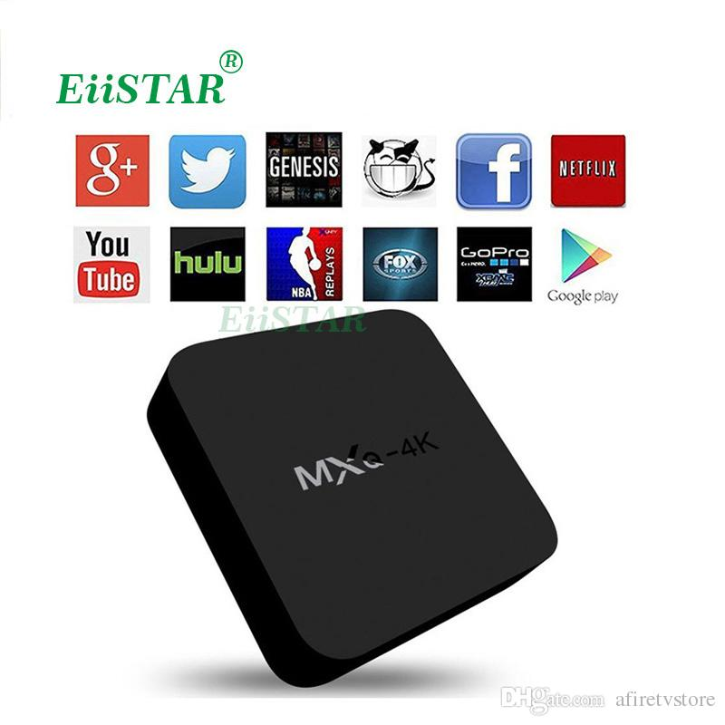 MXQ 4K Android 5.1 Smart TV Box Rockchip RK3229 OTT TV Box Quad Core Support WiF