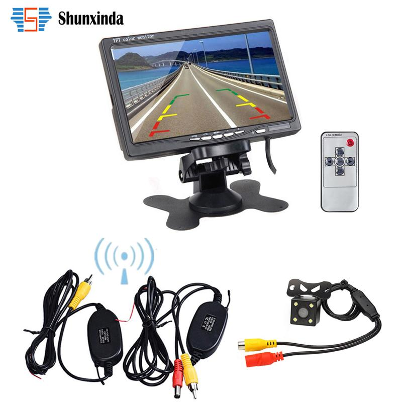 "Wireless Parking Assist system HD Waterproof Backup Reverse Rear View camera + 7"" TFT LCD Monitor Kit For Universal Car Vehicle car dvr"