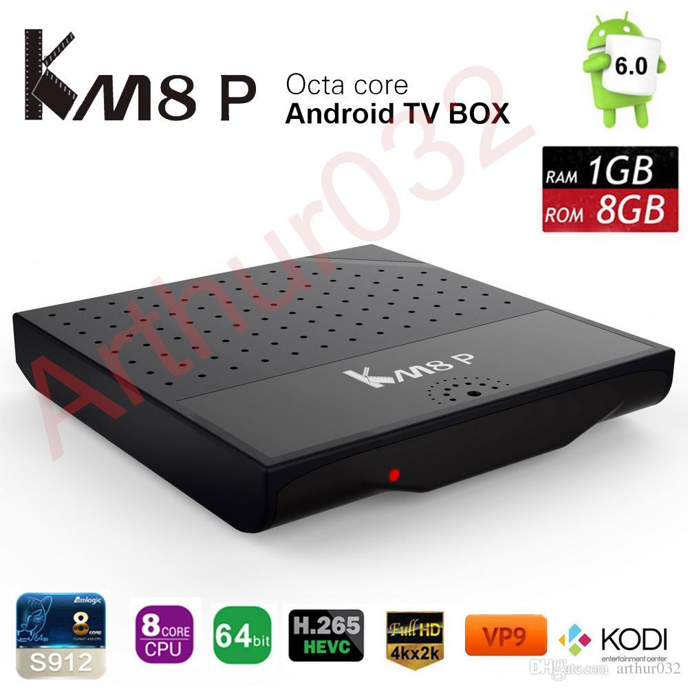 MECOOL KM8P TV Box Android 7.1 Amlogic S912 Octa Core H.265 4K 1 Go / 8 Go 2.4G