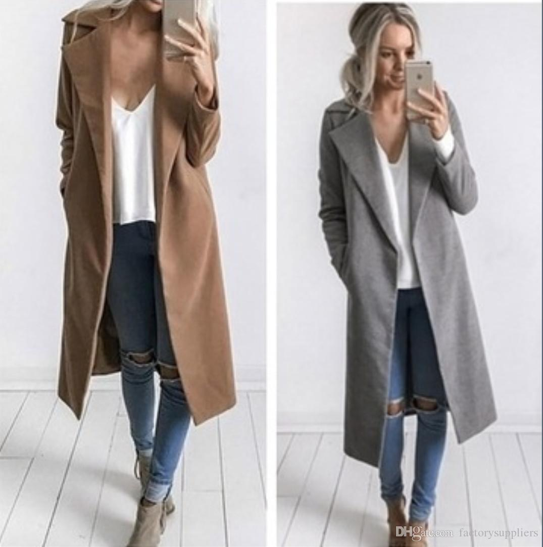 2017 fashion women winter formal elegant coat wear to keep warm full sleeve long lady overcoat. Black Bedroom Furniture Sets. Home Design Ideas