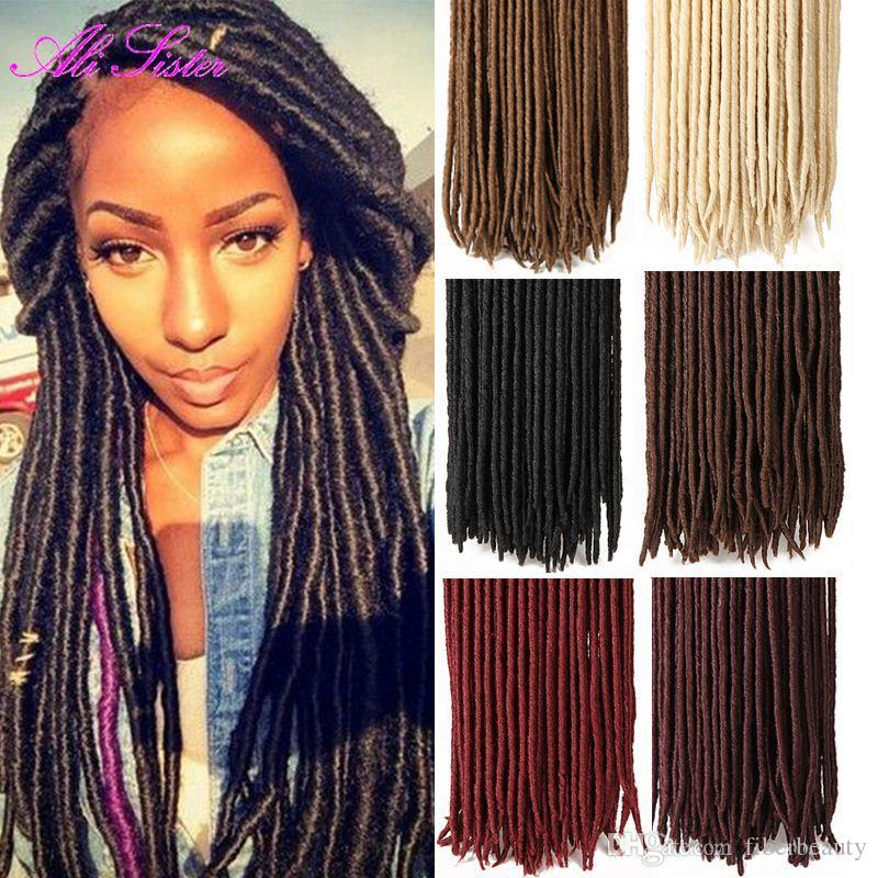 Faux locs xpression braiding hair senegalese twist hair crochet box braids synthetic hair weave - Crochet braids avec xpression ...