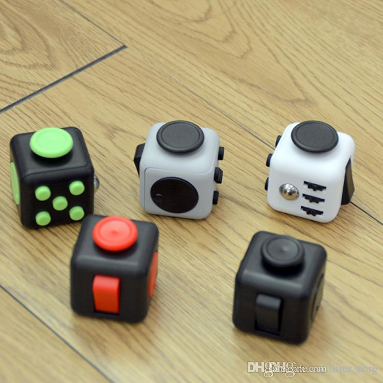 Stress Relief Toys : Fidget cube games stress relief toys for kids adults desk