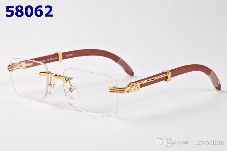 Rimless Glasses Wood Frame : 2017 Rimless Eyeglasses For Men Wood Frame Glasses For ...