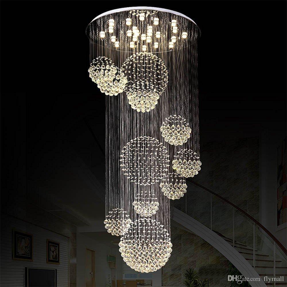 Modern Chandelier Chain: Modern Chandelier Large Crystal Light Fixture For Lobby