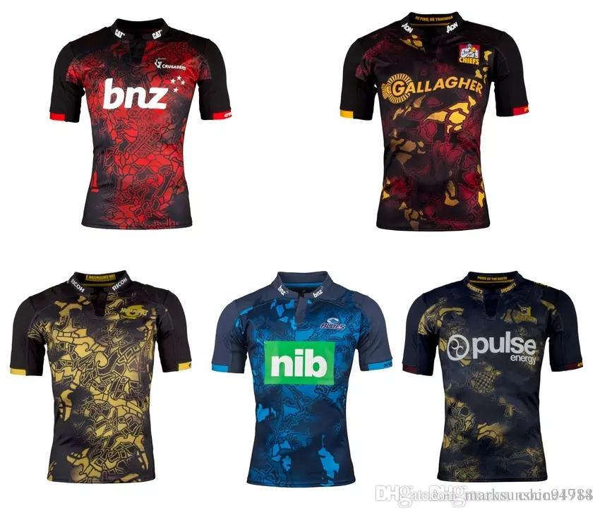2017 new arrival rugby jerseys new Zealand Crusaders Blues Chiefs Highlanders Hu