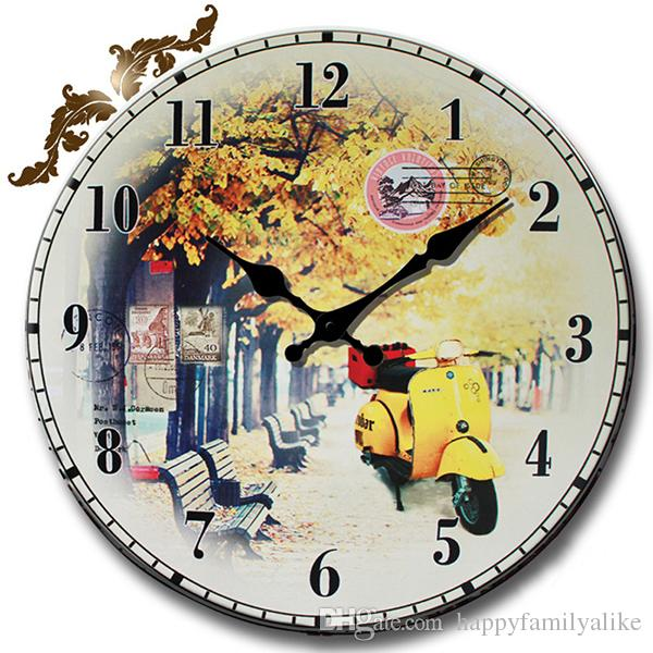 NeoClassic Round Wooden Wall Clock Silent Wall Clock Simple