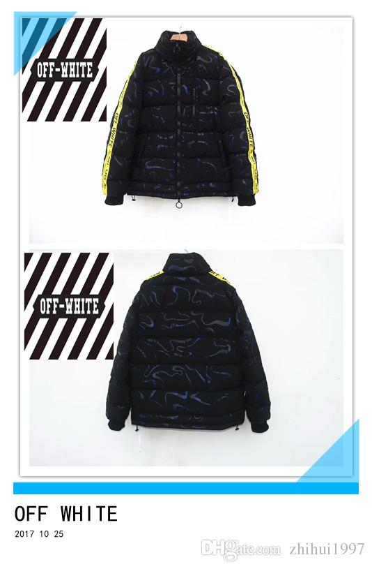 Hot Sell! OFF WHITE Winter Jacket Men Parka High Quality Cotton ...
