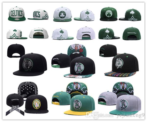 2017 Prix discount Basketball Boston Snapback Celtics percer Caps Ajustable BaSe