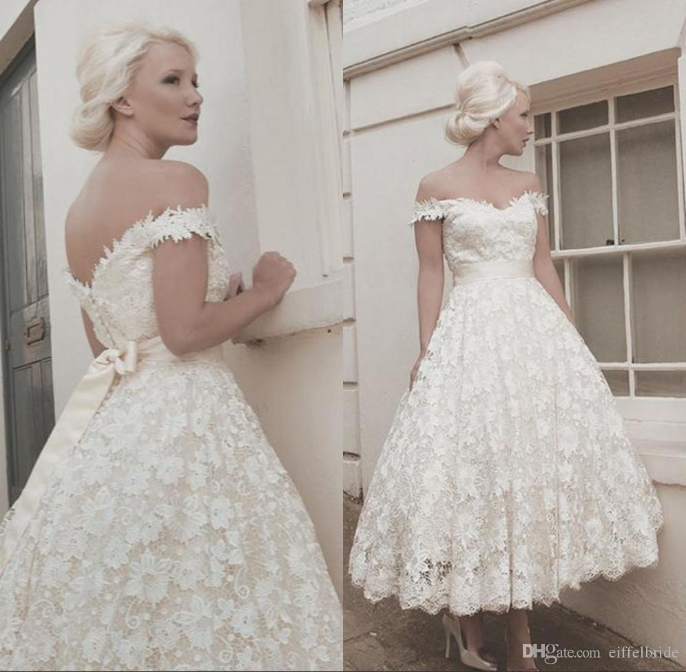 Discount 2016 vintage country wedding dresses sexy lace for Vintage country wedding dresses