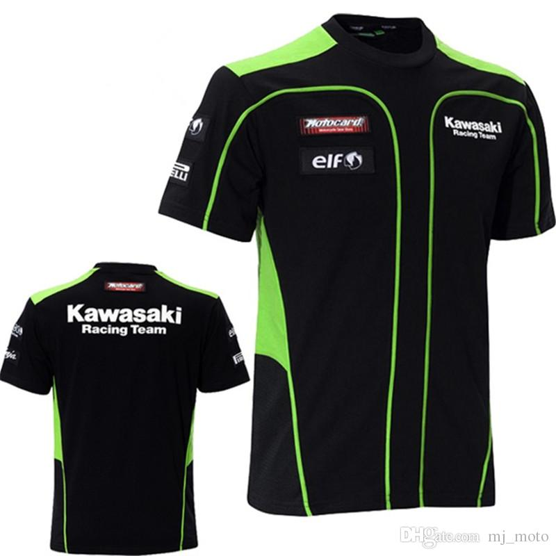 T-shirt Kawasaki de conception originale MOTOGP KAWASAKI Racing Team Chemise 100