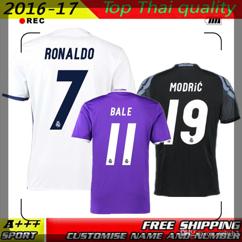 2016 Vêtements de football Real Madrid Madrid 17 17 Real Madrid modric RONALDO S