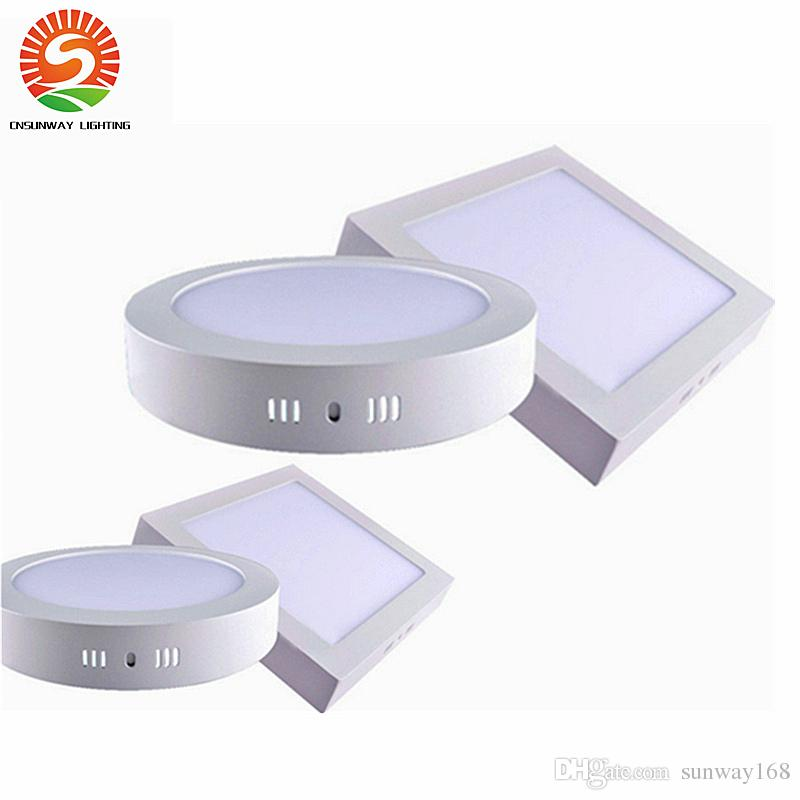 Dimmable Surface Monté Rond Square celling Lumière 9W 15W 25W Led Downlight écla