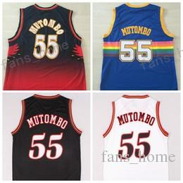 Hot 55 Dikembe Mutombo Jersey Mode Vente All Star Dikembe Mutombo Chemise Unifor