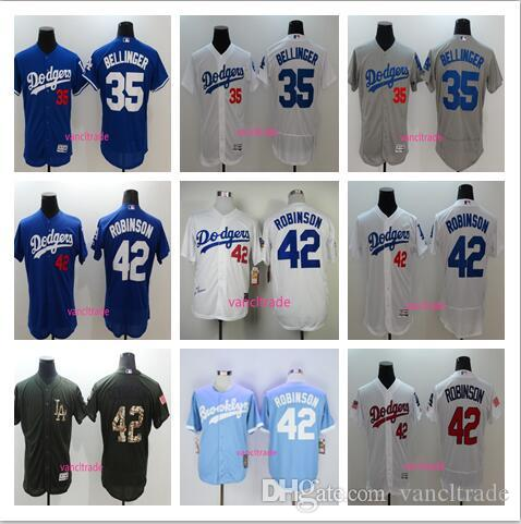2017 Los Angeles Dodgers # 35 Cody Bellinger 1955 # 42 Jackie Robinson Jersey Fl