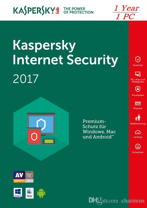 La plus récente Kaspersky Internet Security 2017 - 1 PC 1 an Support Multi-Langu