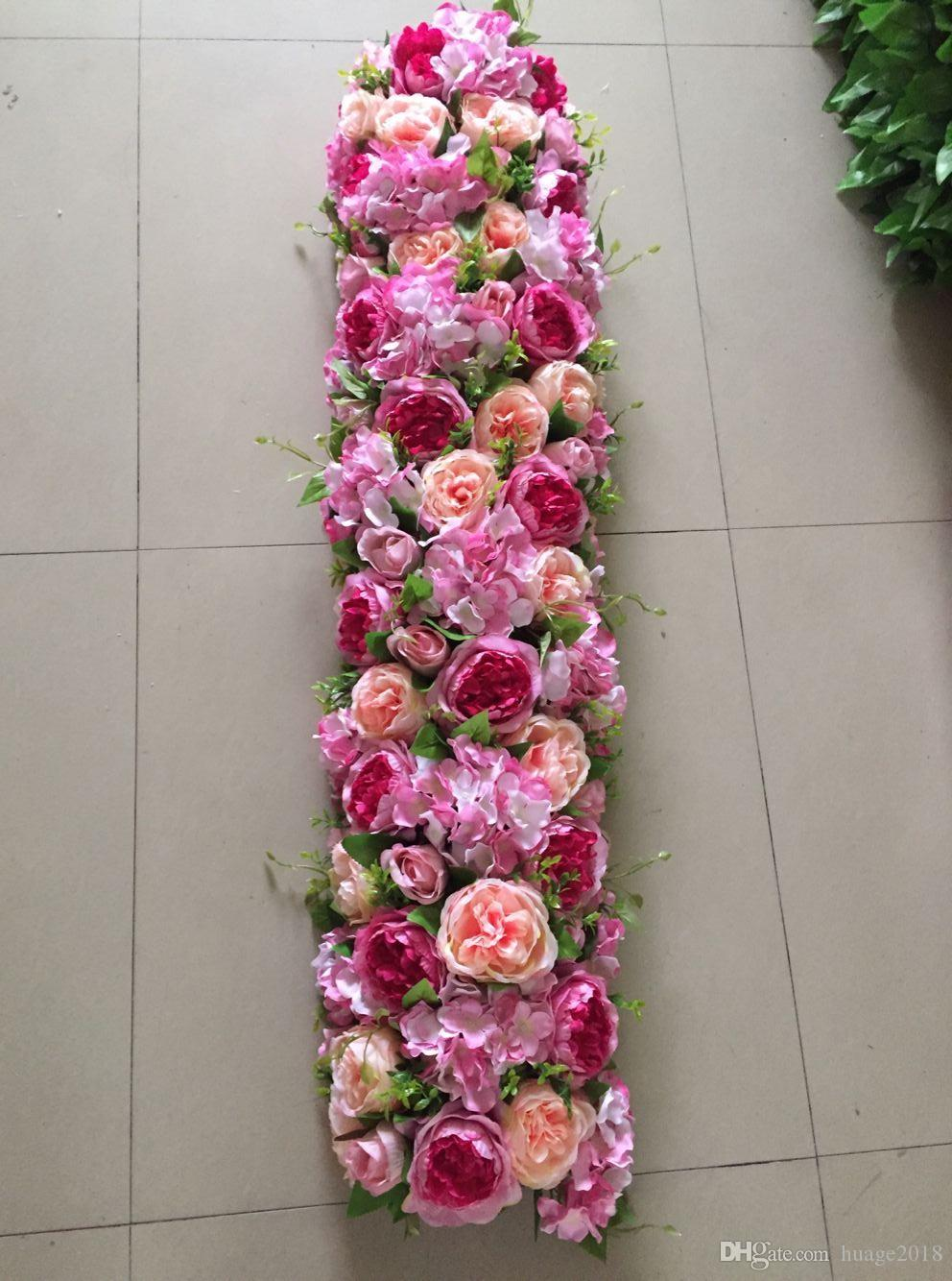 artificial flowers row backdrop fake flower arch high quality decorative wholesale fake flower table centerpiece artificial flower fake flower arch flwoer