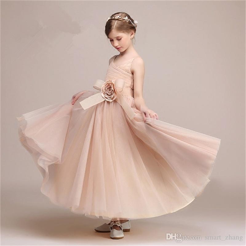 Latest Flower Girl Dresses For Wedding Spaghetti Straps Little ...