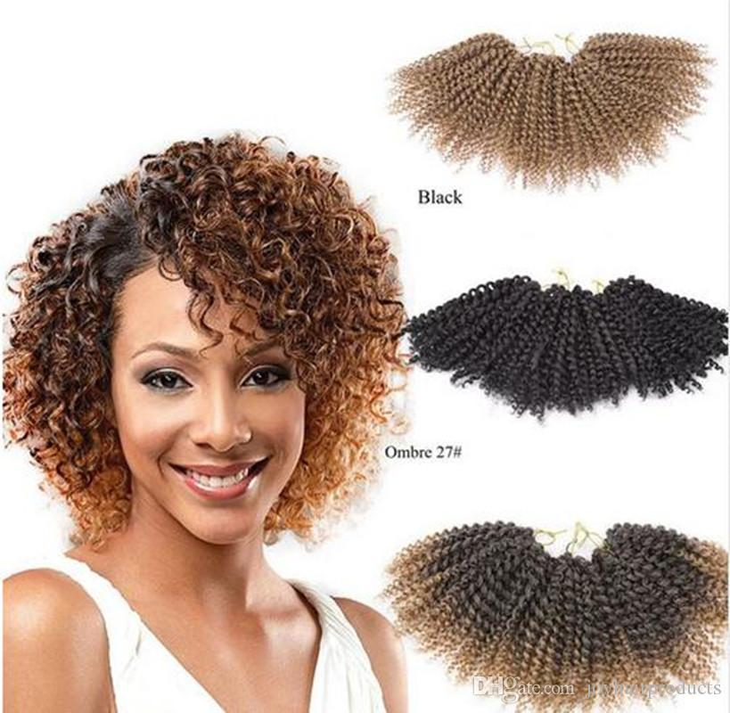 Crochet Hair Uk : Kinky Twist Hair Crochet Braids Synthetic Marlybob Curly Crochet Hair ...
