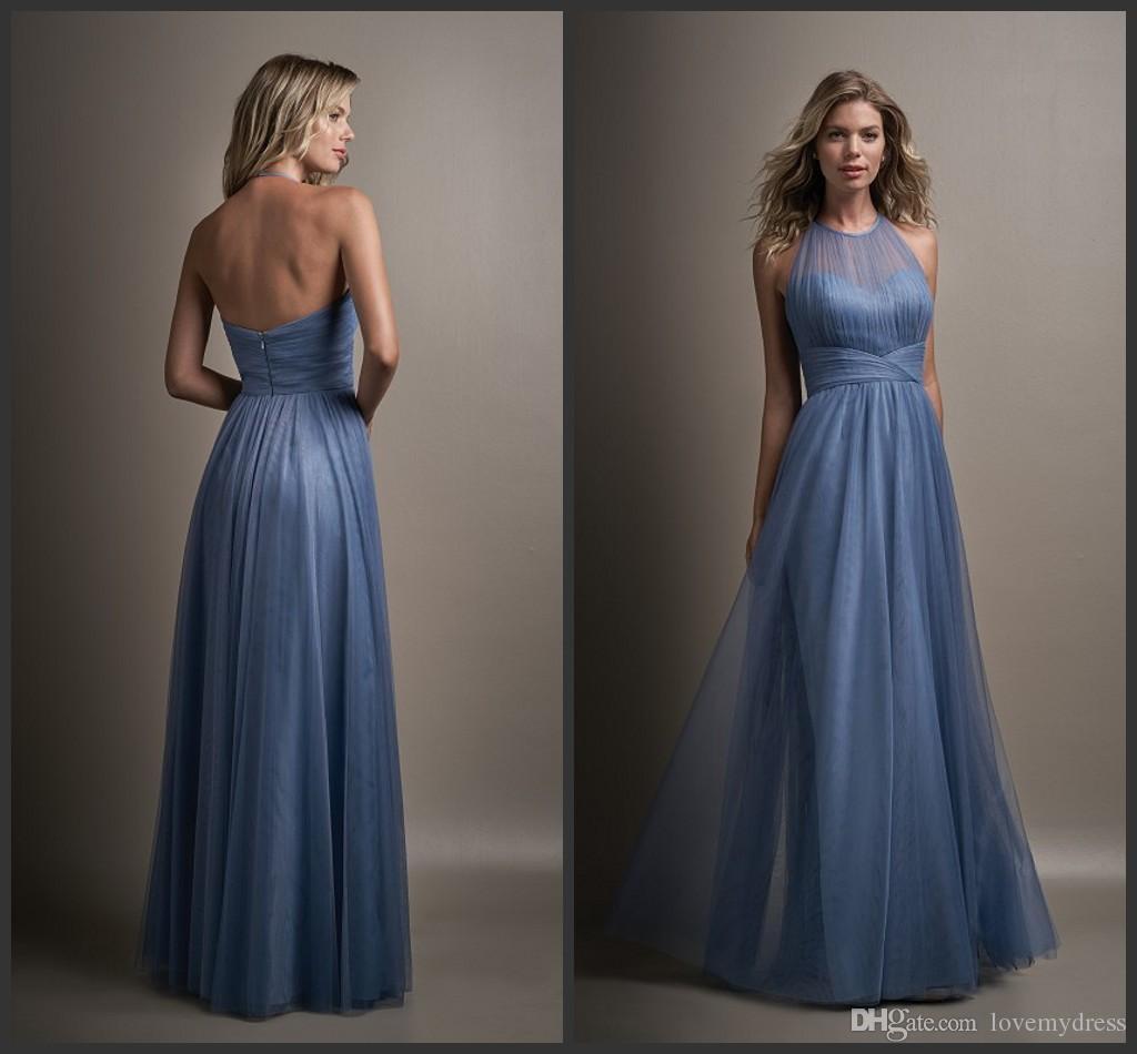 Vintage Style Cheap Wedding Dresses A Line Prom Halter