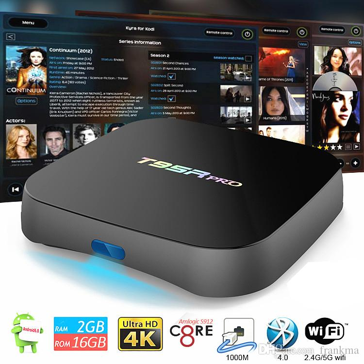 T95R Pro TV Box Android 6.0 Amlogic S912 Octa Core Streaming Media Player Suppor