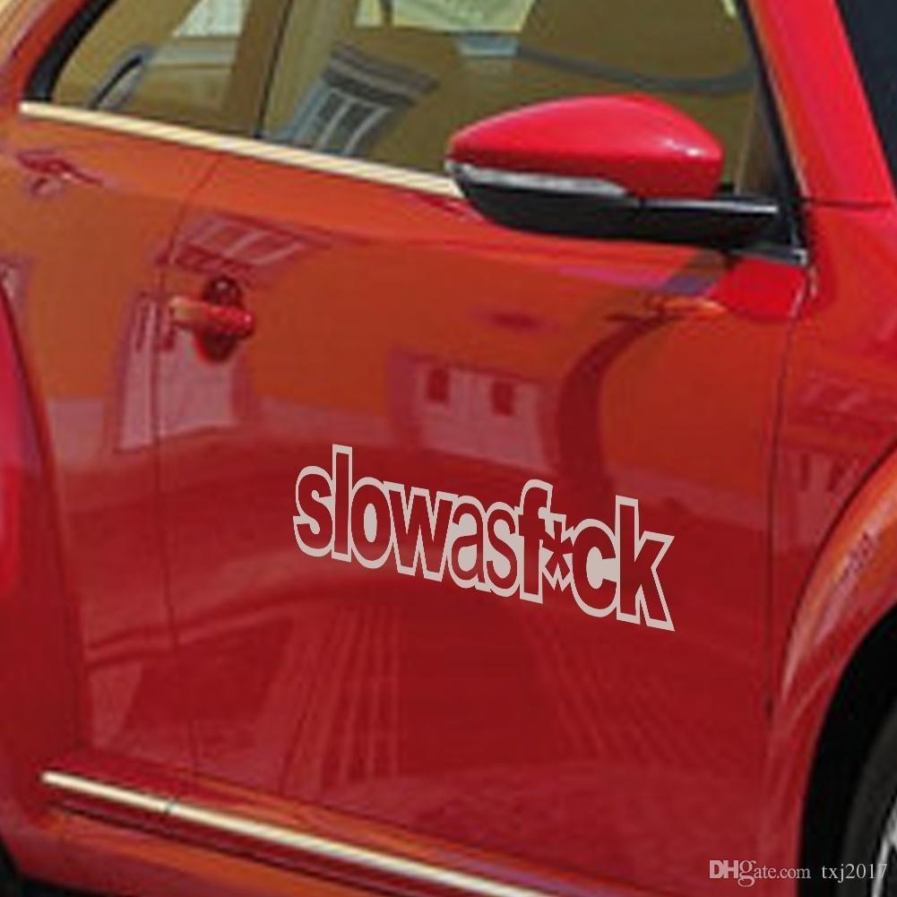 Red car sticker design - See Larger Image