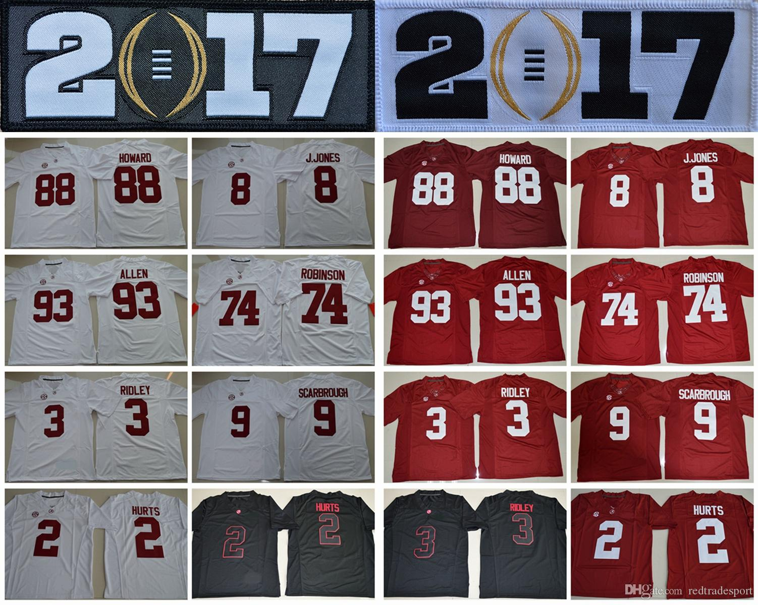 2017 Alabama Crimson Tide Collège Football Jerseys 2 Jalen Hurts 3 Calvin Ridley