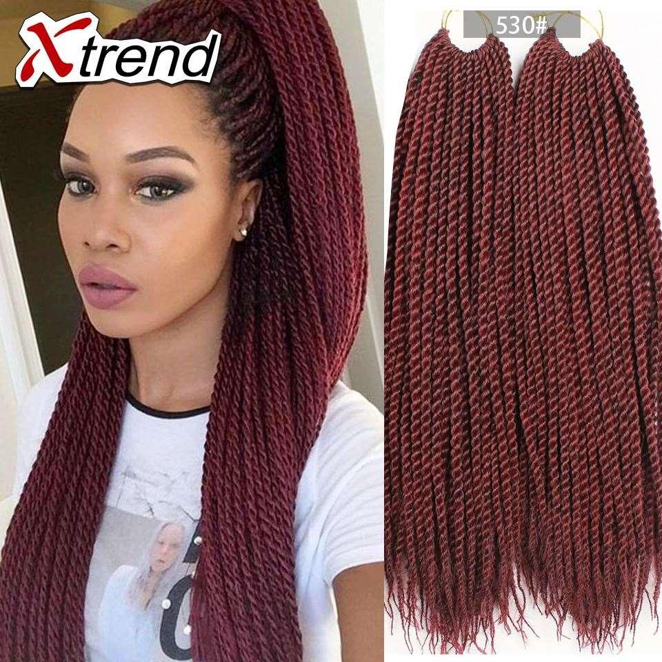 Wholesale Cheapest 18''30strands Black Gray Senegalese