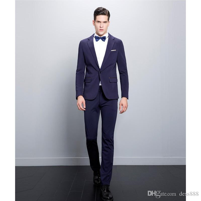 Italian Design Slim Fit Purple Men Suits Handsome Best Man Wedding ...