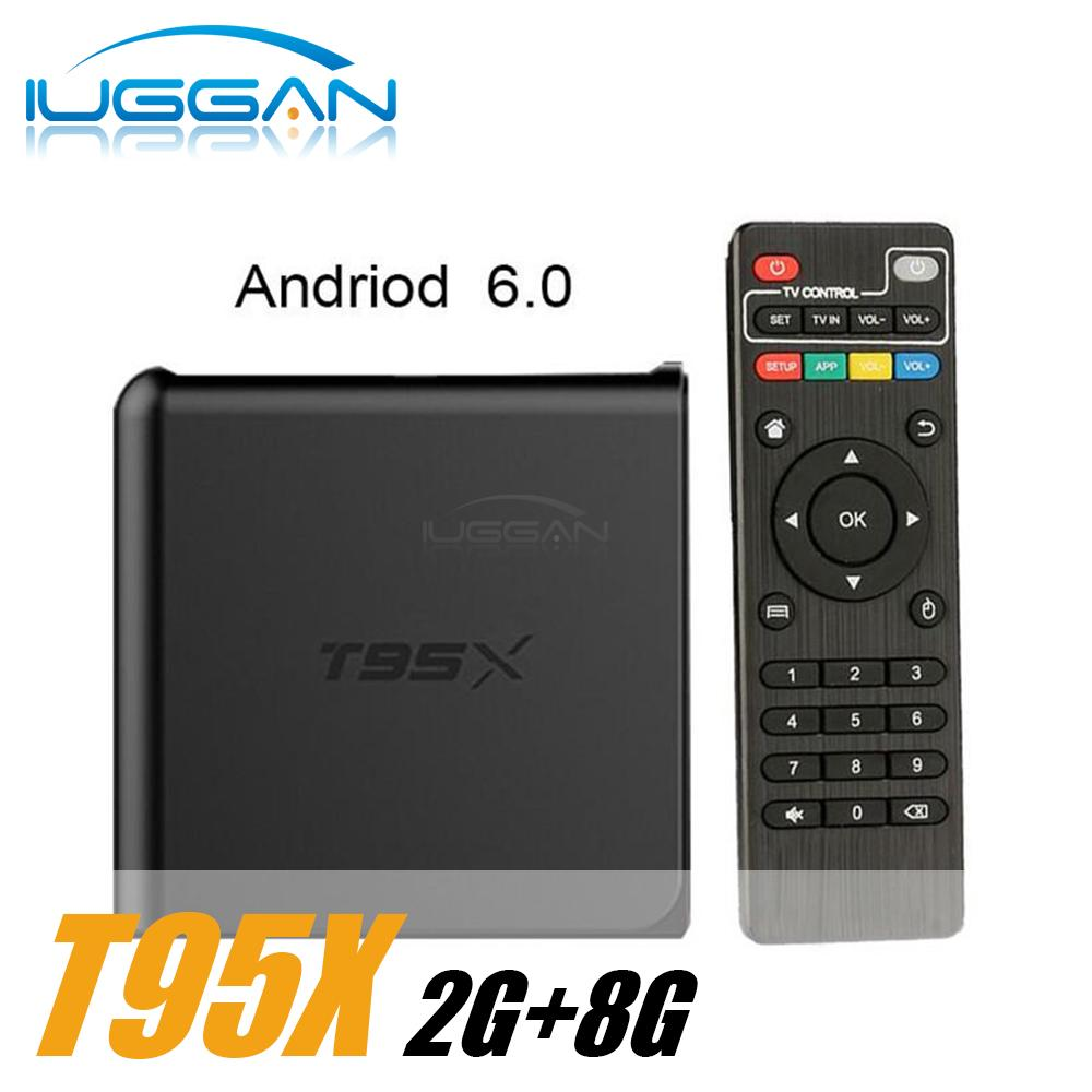 10pcs T95X amlogic S905X Android 6.0 TV Box 2G 8G TV Boxes KD 16.1 H.265 VP9 4K