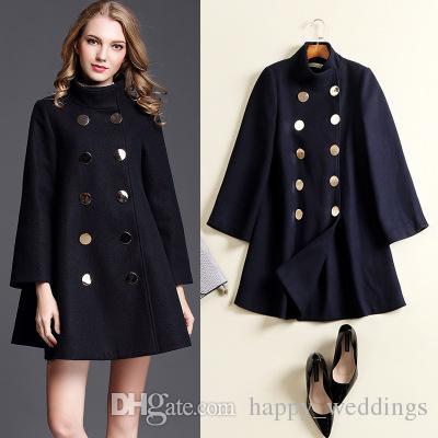 Autumn Winter Wool Coat Jacket Womens 2018 New Fashion Europe Slim ...