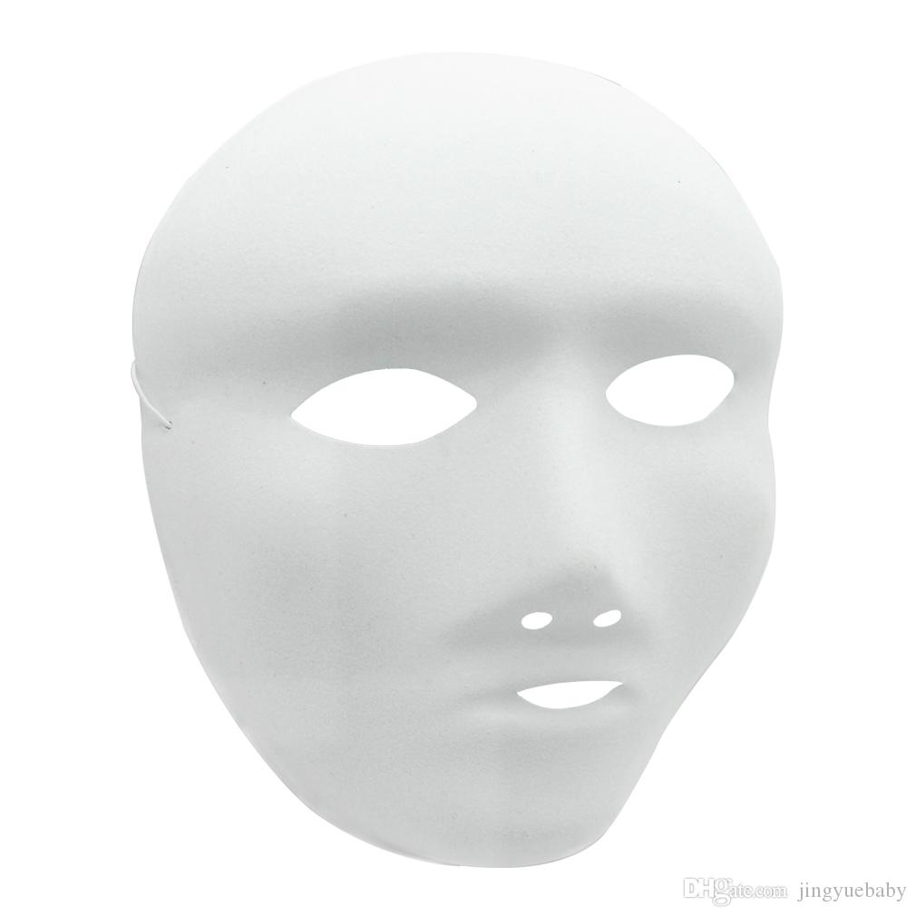 DIY White Blank Mask Halloween Masquerade Party Hand Painting ...